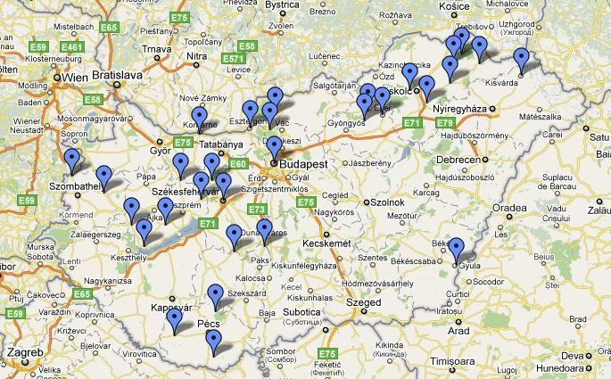 magyarország várai térkép Egy hétvége a magyar várak közt   Onroad.hu   Magyarország egyik  magyarország várai térkép
