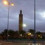 Marokkó túra onroad 78 Tiznit, mecset éjjel