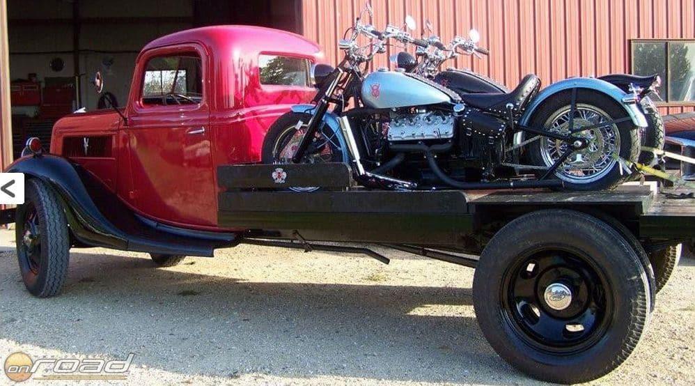 Olson V8-asok egy nagyon stílusos teherautó platóján