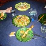 Marokkó túra onroad 110 Szaharai vacsora (homok mindenben)