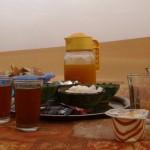 Marokkó túra onroad 111 Reggeli látkép, dűnével