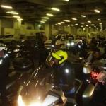 Marokkó túra onroad 145 Barcelonától sok motoros jött a hajóval