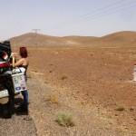 Marokkó túra onroad 97 Pihenő Ouarzazate felé