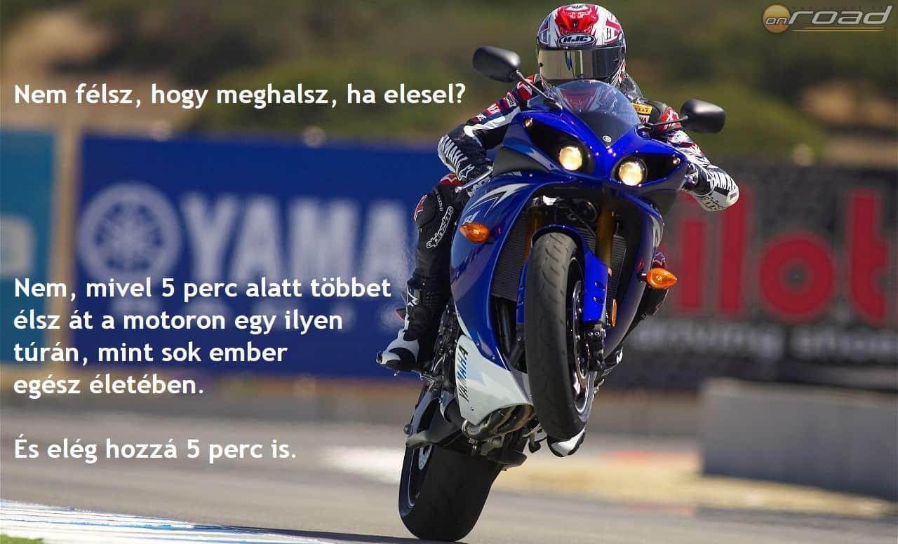 """Tipikus """"kemény motorosos"""" kép a közösségi médiából"""