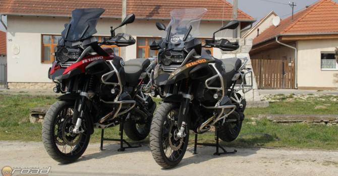A magasságkülönbség jól látszik a két motoron - főleg így nagysztenderen állva