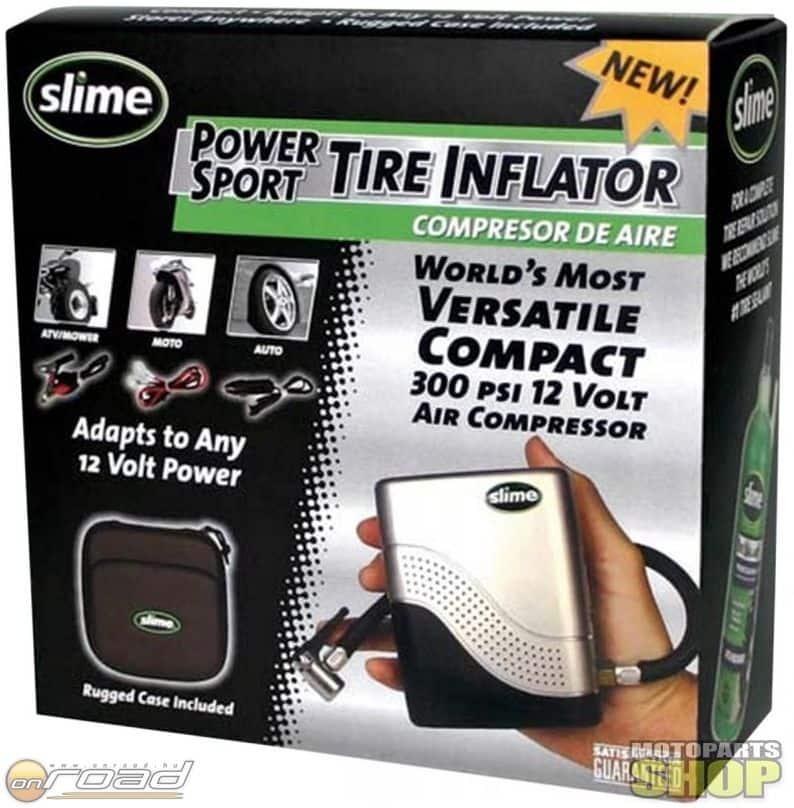 A Slime készletével megjavíthatjuk a lukas kereket és könnyedén, a motor elektromos rendszeréről fel is fújhatjuk azt