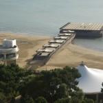 Útvonalbiztosítás Baku túra Onroad 20150609_A szálloda tengerpartja1