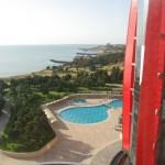 Útvonalbiztosítás Baku túra Onroad 20150609_A szálloda tengerpartja2