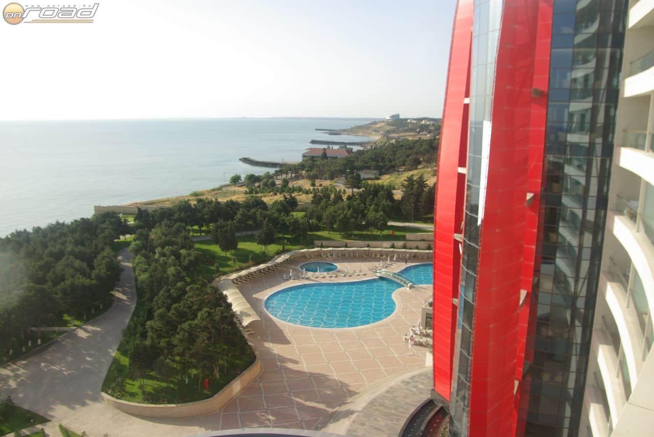 A szálloda tengerpartja