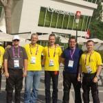 Útvonalbiztosítás Baku túra Onroad 20150609_Akkreditációs központ előtt