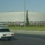 Útvonalbiztosítás Baku túra Onroad 20150609_Múlt és jövő_Lada és Sportcsarnok