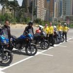 Útvonalbiztosítás Baku túra Onroad 20150609_Motorátvétel