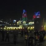 Útvonalbiztosítás Baku túra Onroad 20150610_005_A lángtornyok és a TV torony este