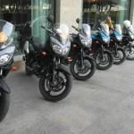Útvonalbiztosítás Baku túra Onroad 20150611_Parkolás a szálloda előtt
