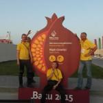 Útvonalbiztosítás Baku túra Onroad 20150611_Triatlon rendezvényközpont kilépő kapunál