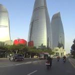 Útvonalbiztosítás Baku túra Onroad 20150612_Motorozás_a lángtornyoknál