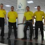 Útvonalbiztosítás Baku túra Onroad 20150612_Pólókra várva
