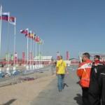 Útvonalbiztosítás Baku túra Onroad 20150612_ejárás a triatlon versenyközpontban