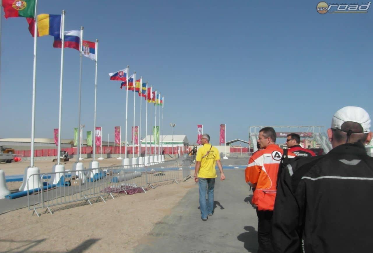 Bejárás a triatlon versenyközpontban
