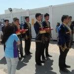 Útvonalbiztosítás Baku túra Onroad 20150613_Eredményhírdetés előtt