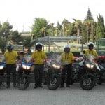 Útvonalbiztosítás Baku túra Onroad 20150615_Indulás a motorokat leadni