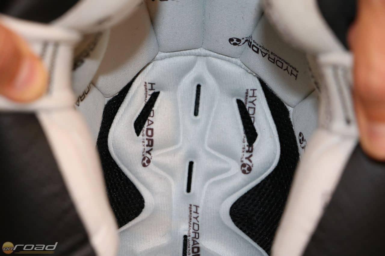 A Hydradry bélés kivehető, mosható és gyorsan szárad