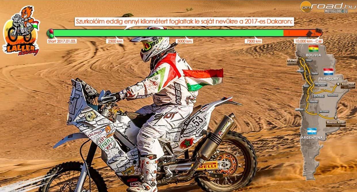Laller minden apró támogatásnak örül, hogy megvalósíthassa célját és elindulhasson a Dakaron