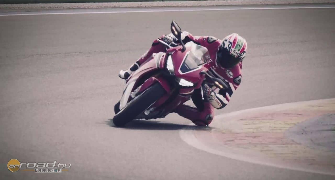 Nicky Hayden is látványosan megkergeti a Honda CBR1000RR SP-t