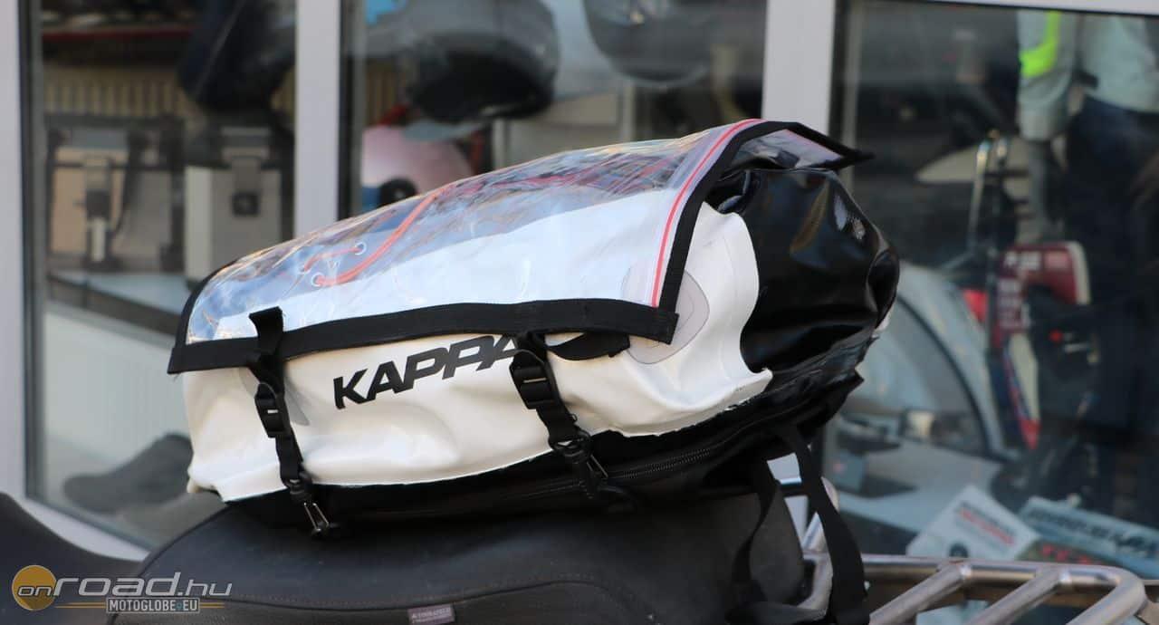 A Kappa DryPack 20 az egyik legjobb alternatíva: tanktáska, hátizsák, térképtartó egyben