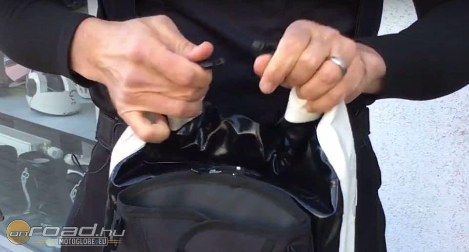 Minden DryPack szája ugyanúgy felcsavarva zárható, majd csattal rögzíthető