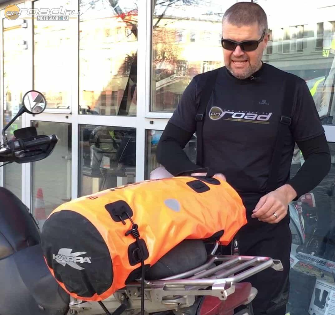 A DryPack 40 a hengerzsák nagyobb változata. Ez a szín sokat javít a biztonságunkon!