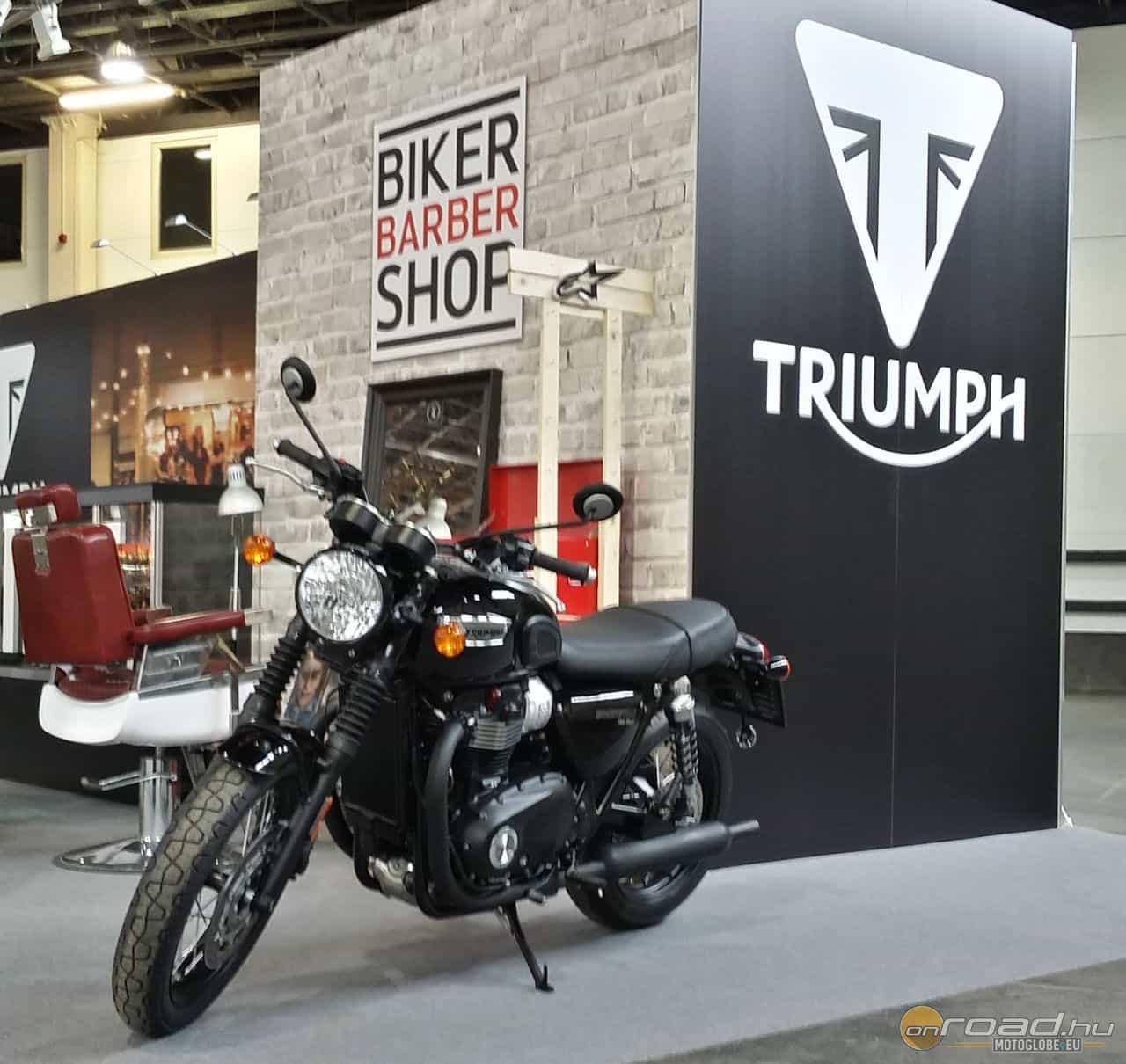 A Triumph porondján akár még egy borbély szolgáltatását is igénybe vehetjük