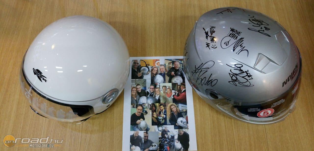 Jobbra az aláírt Nolan, balra pedig egy mintadarab azokból a Kappákból, amik lesznek belőle