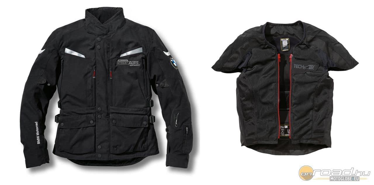 A légzsákos kabát minden motorhoz felvehető és komoly biztonságot nyújt. A  motoros szezon beköszöntének alkalmából a BMW Motorrad Márkakereskedésekben  ... d606eeb048
